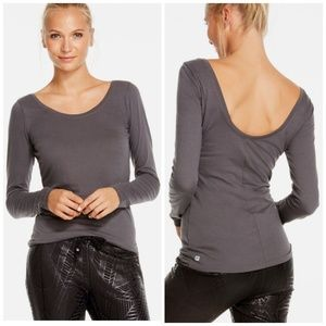 Fabletics Mid Gray Aurora L/S Tee  New with tags
